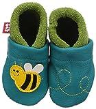 Pololo Biene Susi - Zapatillas de estar por casa para niños, Türkis (Waikiki Pistazie 434), 18/19