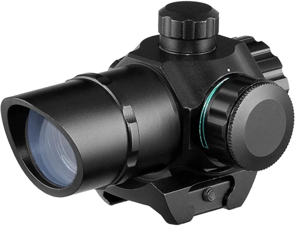 ACEXIER Visor óptico de Punto Rojo de Caza 1x22, mira telescópica táctica Airsoft para mira de Pistola de Punto Rojo y Verde de 20mm, Muesca Oblicua