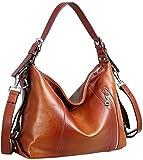 Heshe Vintage Womens Genuine Leather Handbags...