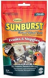 Higgins Sunburst Fruits & Veggies Gourmet Treats Conures, Parrots & Macaws