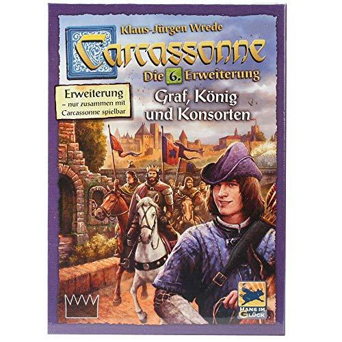Asmodee DE HIGD0106 Hans im Glück Carcassonne - Graf, König und Konsorten Brettspiel, 6 Erweiterung