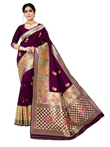 HAOK Sarees For Women's Banarasi Art Silk Indian Sari | Sari tradicional...