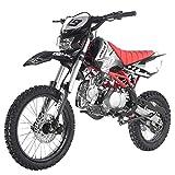 X-PRO 125cc Dirt Bike Pit Bike Adult Dirt Pitbike Gas Dirt Bikes with Headlight 125cc Gas Dirt Pit Bike ,Black
