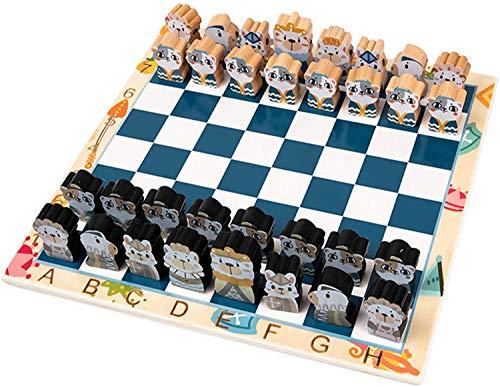 ZHZHUANG Conjunto de Ajedrez, 30X30X1Cm Estrategia de Inteligencia Juego de Ajedrez para Niños Adultos con una Bolsa de Alenamiento Padre-Niño Ajedrez Enseñando