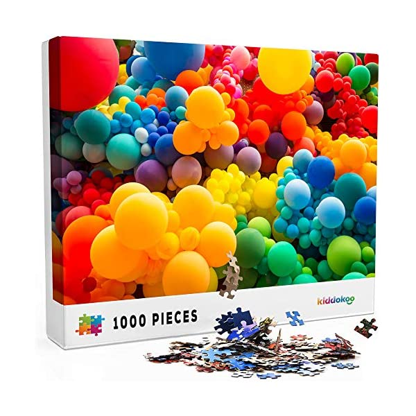 Jigsaw Puzzles 1000 Pieces for Adults – Challenging Colorful Puzzle for Kids or Adults. Fun 1000 Piece Color Collection for Family Home Fun at Home or Vacation at Cabin. Colorful Spheres Bubbles