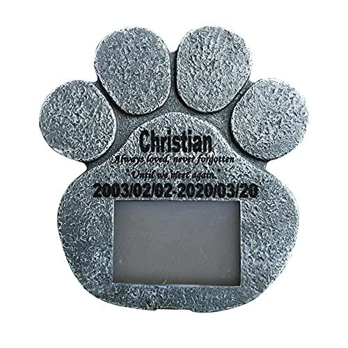 Piedras Lápidas De Mascotas, Piedra Conmemorativa De Perros, Resina Artesanía Creativa, Memoría Para Mascotas Marco De Memoria PAW-PULS PIEDRA PIEZA, ANIMALES DE LOS RECORADORES AIRNUERTOS