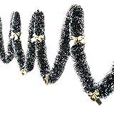 Winbang Addobbi Natalizi, 2m Festa di Natale Nastro Colorato Albero di Natale Decorazione Ornamenti Regalo Hanging, Knot Giallo