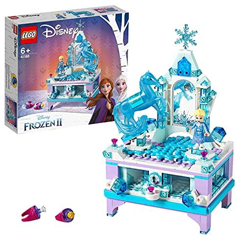 LEGO DisneyFrozenII IlPortagioiellidiElsa con Mini-doll della Principessa Elsa e Figura di Nokk, Cassetto con Chiusura,Piattaforma Girevole, Giocattoli da Collezione per Bambini, 41168