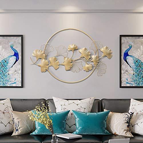 Little stars 3D Effekt Wanddekoration,Metallblatt Laminierte Ginkgo biloba Blattform,Chinesischer Stil und hohles Handwerk Geeignet für Wohnzimmer Schlafzimmer Hotel