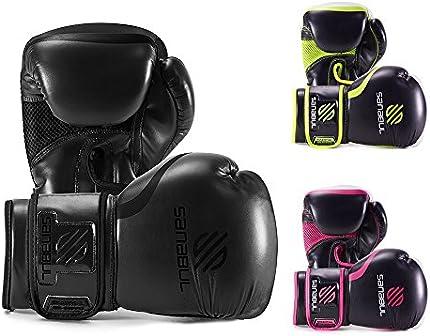 Sanabul Essential - Guantes de gel para boxeo, kickboxing, costal de box