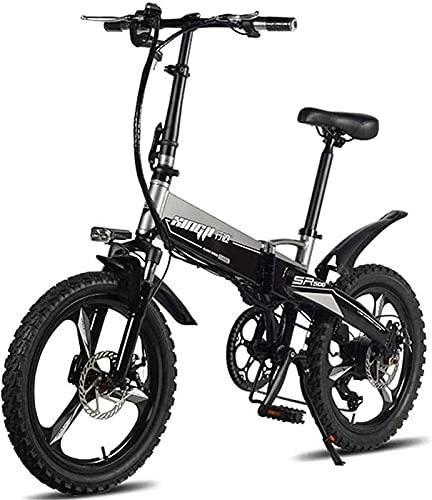 Bicicleta electrica Bicicletas eléctricas rápidas para adultos Bicicletas de montaña plegables 48V 250W Adultos Aleación de aluminio 7 velocidades Bicicletas eléctricas Bicicletas de choque doble con