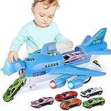 AORED Avión set con coches de la pista inercia de los niños a construir juguete avión de juguete y jugar ladrillos de juguete for niños Real Airport Juego de construcción (6 coches) La mejor regalo de