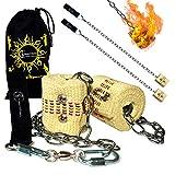 Feuer Poi (2x45mm Docht) Fire Poi +Reisetasche. Swinging Poi, Spinning Pois und Feuer Jonglieren für Anfänger und Profis