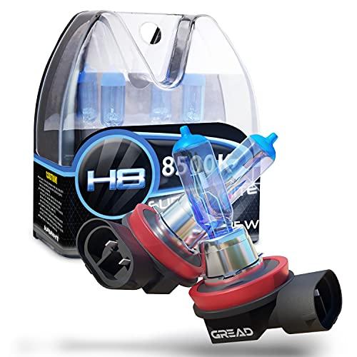 Gread - Lampe halogène H8 35W pour voitures, Apparence au xénon, 8500k super blanc, 2 pièces