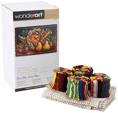 Wonderart Classics Country Harvest Latch Hook Kit, 20