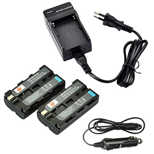 DSTE 2-Pieza Repuesto Batería y DC01E Viaje Cargador kit para Sony NP-F550NP-F330NP-F570RV100CCD-TR67 CCD–sc5CCD–sc5/E CCD SC55E CCD-TR818/CCD-TR87CCD-SC55SC6SC65SC7CCD-TR67SC7/E SC8/E SC9CCD-TR67TR1CCD-TR67TR11
