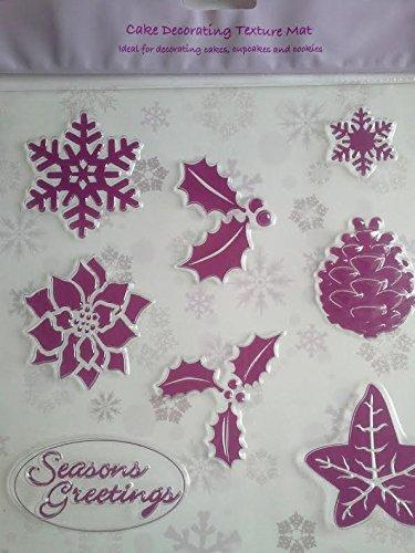 CULPITT Natale Texture Tappetino - 8 Disegni per Torte, torte & Biscotti