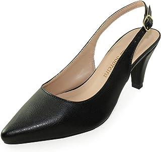 Scarpin Chanel Salto Baixo Luiza Sobreira Couro Preto Mod. 1065-2