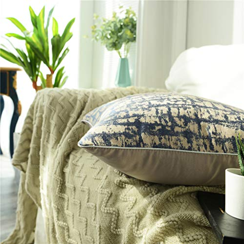 UYSDF Fashion Pillowcase 45 * 45 cm,Woven Jacquard Polyester Square Pillow Cover Cushion Case Toss Pillowcase