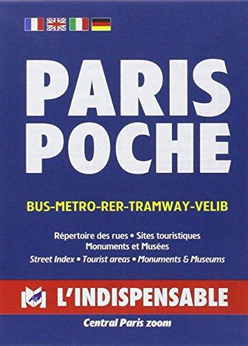 Plan de ville : Paris Poche, avec index des rues