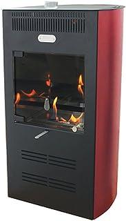 Tecno Air System Estufa bioetanol 3000W Ventilata 3Velocidad Burdeos Calefacción Ruby Elegance
