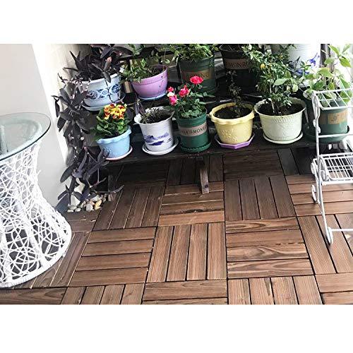 AGBFJY 1-delig tapijt voor buiten, vloerbedekking, gecarboniseerd hout