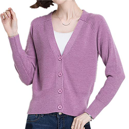 La chaqueta de punto para mujer es versátil, estilo corto y suéter
