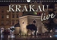Krakau live (Wandkalender 2022 DIN A4 quer): Der international taetige professionelle Reisefotograf Karl H. Warkentin zeigt in 12 Motiven das lebendig-junge Krakau bei Tag und auch bei Nacht. (Monatskalender, 14 Seiten )