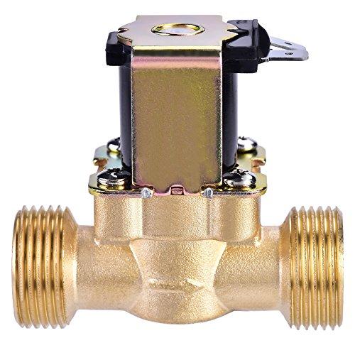 """Magnetventil, 3/4"""" DC 24V Präzise Normalerweise Geschlossenes Elektrisches Magnetmagnetventil aus Messing für Wasser Kontrolle, Strapazierfähig/Korrosionsschutz"""