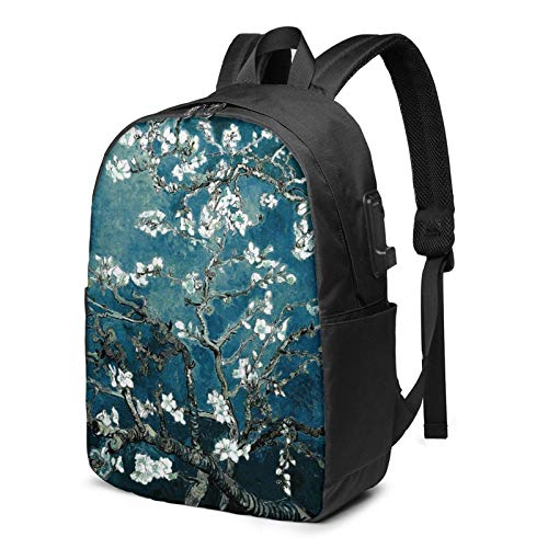 Van Gogh Almond Blossoms Backpack Sports Gym Bag for Women Men Children