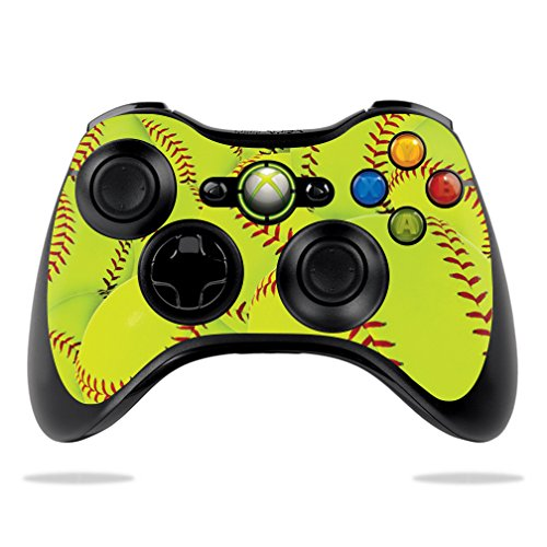MightySkins Skin Compatible with Microsoft Xbox 360 Controller - Softball Collection | Protective, Durable, and Unique Vinyl wrap Cover | Easy to Apply, Remove, and Change Styles | Made in The USA
