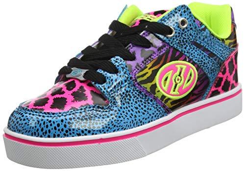 Heelys Damen Motion 2.0 Sneaker, Mehrfarbig (Cyan/Hot Pink/Purple/Animal Print), 38 EU