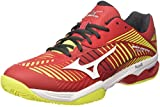 Mizuno Wave Exceed Tour 3 CC, Scarpe da Tennis Uomo, Rosso (Marsred/White/Safety Yellow), 42.5 EU