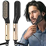 Beard Straightener, ANLAN Multifunctional Straightening Brush Comb Heating Adjustable Temperature Anti-Scorch Hair Straightening Comb Beard / Hair For Men / Women