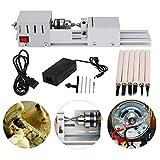 MYSWEETY - Mini macchina CNC per la lavorazione del legno da tavola, strumento fai da te, tornio standard, macchina lucidatrice, DC 24 V, 80 W