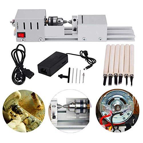 MYSWEETY Mini CNC Machines voor Tafel Houtbewerking Hout DIY Tool draaibank Standaard Set, draaibank Kralen Polijstmachine, DC 24V 80W