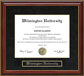 Wordyisms Wilmington University Mahogany Diploma Frame
