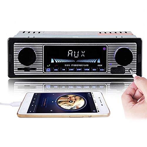 Radio estéreo para Coche con Bluetooth, Estilo Vintage, Reproductor de MP3, estéreo, USB, AUX, Radio de Audio estéreo para Coche