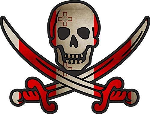Akachafactory sticker piraat piraten Jack Rackham Calico vlag vlag M Malta