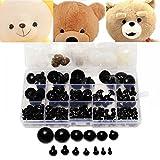 154pcs 6 a 24 mm DIY Negro Ojos plástico de seguridad Ojo Con arandelas Niños Juguetes de peluche Mu...