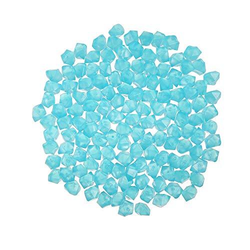 300 Stücke Leuchtsteine Leuchtende Kieselsteine Fluoreszierende Steine Garten Dekorative Steine für Gehwege Outdoor Decor Aquarium Pfad Rasen Garten (Blau)