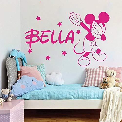 Tianpengyuanshuai Cartoon aangepaste naam muis sterren muurtattoo baby kinderkamer kinderkamer slaapkamer aangepaste naam
