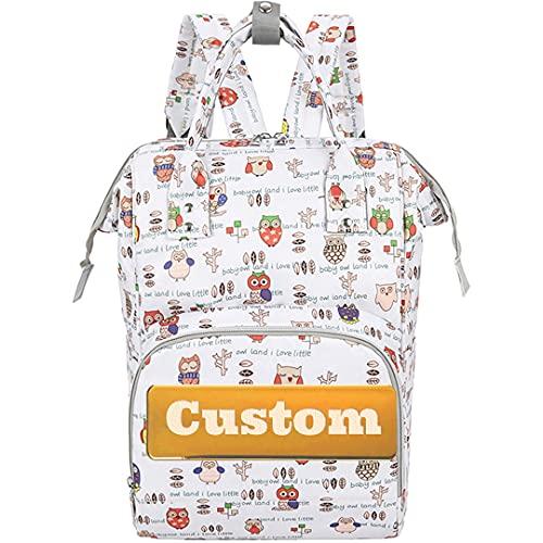 PANFU Personalisierter Name isolierte Windel-Baby-Neugeborenen-Tasche mit Wechseln von Pad Windel Organizer Bag (Color : Baisemaotouying, Size : One Size)