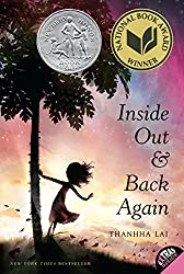 cover of inside out and back again  middle-grade historical fiction books