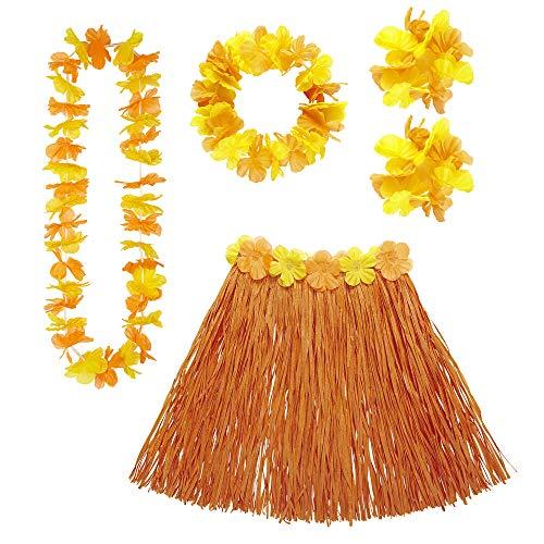 WIDMANN MILANO PARTY FASHION Video Delta Set Costume Hawaiano Arancione