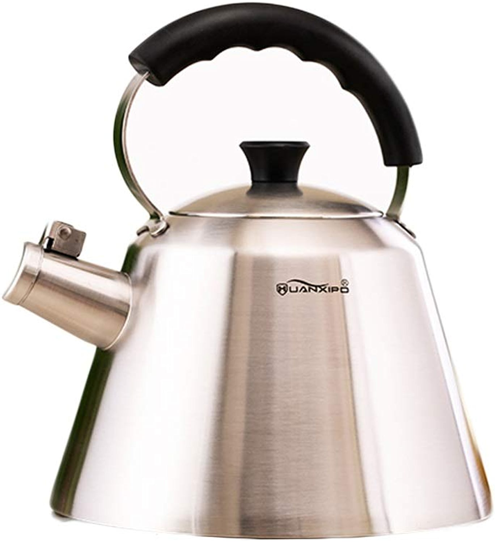 SHENGSHIHUIZHONG Théière de haute qualité, théière sifflante en acier inoxydable, théière 3 pintes, four à thé (argent) multi-function kettle (capacité   3L)