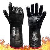 Schwer BBQ Grill Gloves 932℉ Waterproof Grilling Gloves for Turkey Fryer, Baking, Oven, Neoprene...