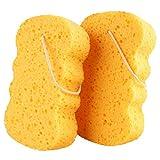 GAINWELL Esponjas de Baño - Esponja de Celulosa Natural, Esponja Vegetal Exfoliante de Ducha - Esponja Vegetal 2 piezas