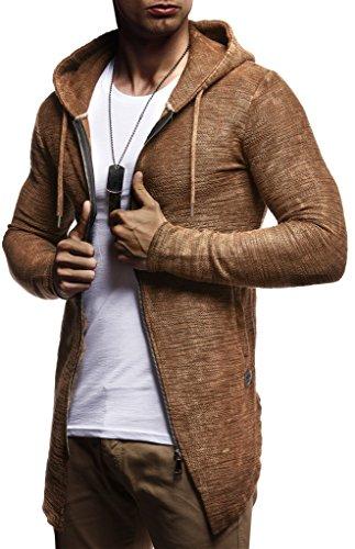 Leif Nelson heren sweatjas met capuchon slim fit katoenaandeel modern hoodie-cardigan lange mouwen mannen zwart vrijetijds-capuchon jas voor winter zomer LN8195