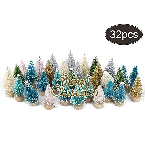 Hapeisy クリスマスツリーセット ミニ クリスマスツリー クリスマス飾り おしゃれ 撮影小道具 小物置物 部屋飾り 雰囲気作り パーティー プレゼント 32pcs